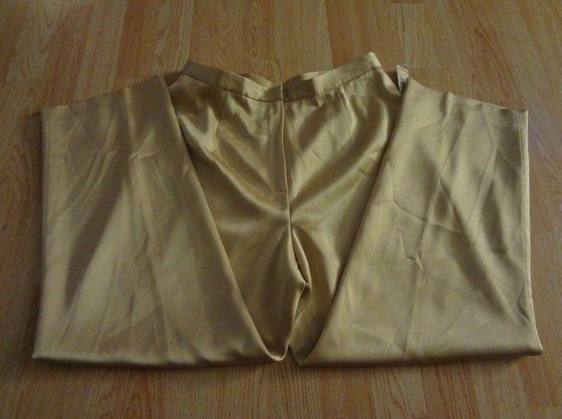 Women's Talbots Petites Sz 14 NWT Pants Slacks Metallic Gold Color - $41.84