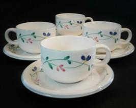 4 Allegro Stoneware Hearthside Cups & Saucer Plates Fine China Dinnerwar... - $39.60