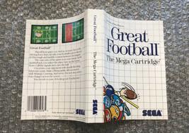 Great Football **ORIGINAL CASE/BOX ART ONLY** Sega Master System - WORN - $4.27