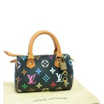 LOUIS VUITTON Monogram Multicolor Mini Speedy Hand Bag Black M92644 sa1928 - $2,380.00