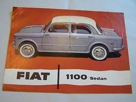 1958 Fiat 1100 Owner Sales Brochure Sedan Wagon - $18.99