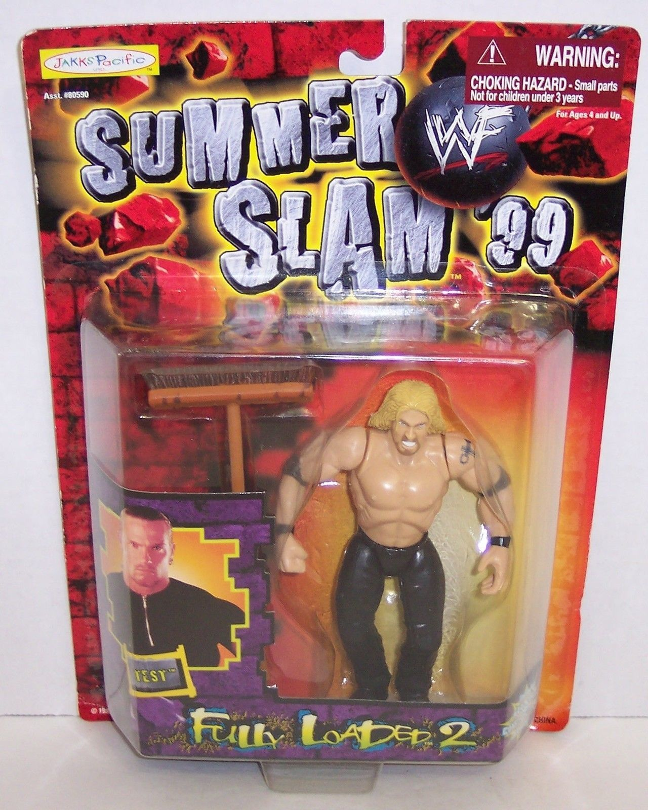 "Primary image for New! 1999 Jakk's Pacific Summer Slam Loaded ""Test"" Action Figure WWF WWE [872]"