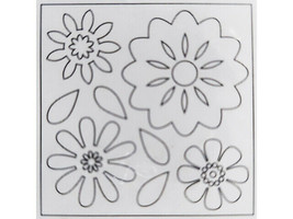 Creative Imaginations Blank Chipboard Blooms d-mensions, 3 Sheets & 24 Foam Dots image 2