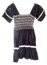 Sz 2XS - Romeo & Juliet Couture Black & Ivory Smocked Dress Size 2XS - $16.24