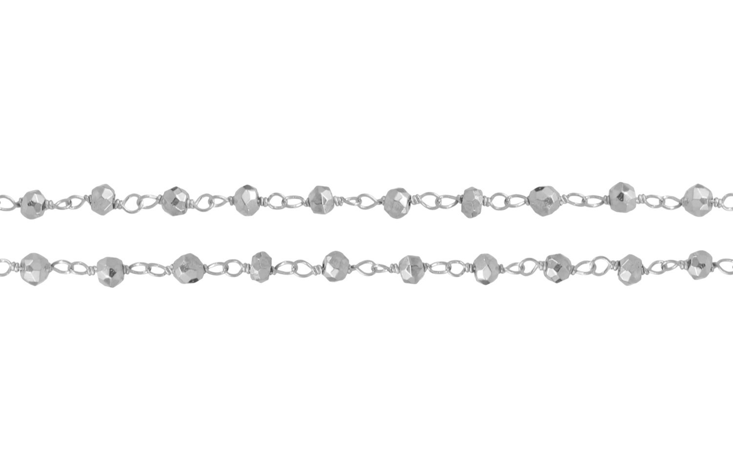 Primary image for Chain, Faceted Pyrite Rosary Chain, Sterling Silver, 3mm, Pk Of 10ft (6845-10)/1