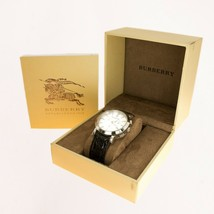 Buberry Mens Watch Steel Crocodile leather strap UK BHS - $171.74