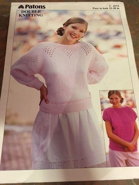 Patons Baldwins Knitting Pattern 1990s 2 Listings