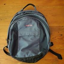 JANSPORT Blue Nylon 4 Compartment Travel Laptop Book Bag Backpack - $13.29