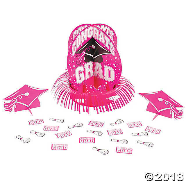 Primary image for  Hot Pink Graduation Table Decorating Kit