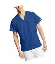 Cherokee Originals Unisex V-Neck Scrubs Shirt Small Galaxy Blue 4777 Medical NWT - $13.09