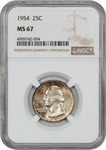 1954 25c NGC MS67 - Washington Quarter - $198.85