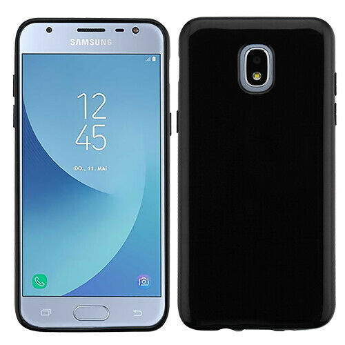 Primary image for Samsung GALAXY J3 Star 2018 TPU Silicone Rubber Thin Protective Case Cover Black