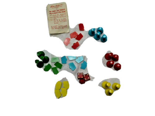 Vintage 1960 Kimbo Board Game replacement pieces only parker brothers - $13.51