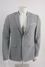 Zara Mens Suit Jacket Blazer US 40 EU 50 Sport Coat Gray Business 4303/5... - $59.39