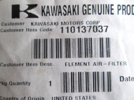 11013-7037, Kawasaki, Air Filter Element, Quantity=2 - $4.99
