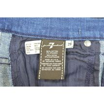 7 For All Mankind jeans cropped 29 x 24 NWT raw hem USA image 5
