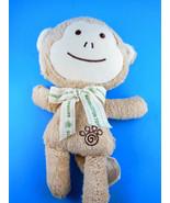 Dog Toy Monkey Plush Good Earth Dog 100% all Natural Cotton Natural 10 i... - $14.84