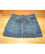 Girl's Size 4 The Children's Place Denim Blue Jean Mini Skirt Skort Spar... - $14.00