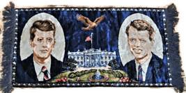 Vintage JFK Bobby Robert Kennedy Wall Tapestry w. Fringe White House  37... - $11.35