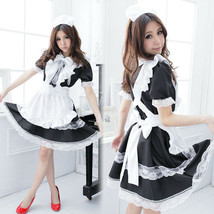 Japanese Maid Uniform Lolita Dress Halloween Cosplay Costume Sexy Outfit... - $24.99
