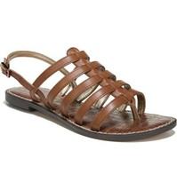 Sam Edelman Women Slingback Strappy Sandals Garland Size US 9M Brown Leather - $24.79