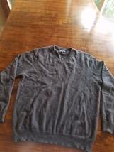 Club Room Men's 100% Cashmere Sweater, Grey, Size L - €24,02 EUR