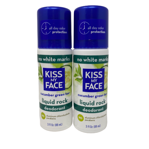 Primary image for Kiss My Face Lot/2 Liquid Rock Deodorant Cucumber Green Tea Vegan Roll On 3 OZ