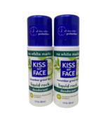 Kiss My Face Lot/2 Liquid Rock Deodorant Cucumber Green Tea Vegan Roll O... - $22.95