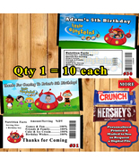 Little Einsteins Birthday Candy Bar Wrappers 10 ea Personalized Printed ... - $10.50