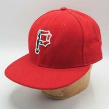 Pittsburgh Pirates New Era 59FIFTY Red White Blue Fitted Hat Size 7-3/4 - $19.79