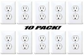 Fake American Standard Wall Outlet Stickers Plug Decals Vinyl Prank Joke 10 PACK - $12.38