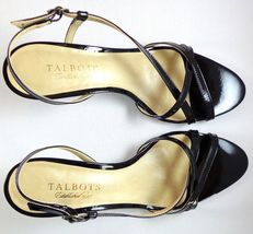 Heels Strappy Patent Womens 7 Size Leather Talbots Black AA Slingback qRcXtYUw
