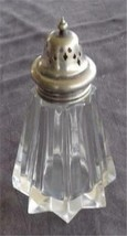 Vintage Pressed Glass Sugar Shaker - Silver Plate Top - GREAT 8-Point St... - $39.59