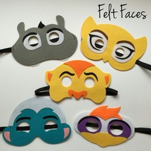 5 Disney The Lion Guard King Childrens Birthday Felt Party Favor Masks - $12.38
