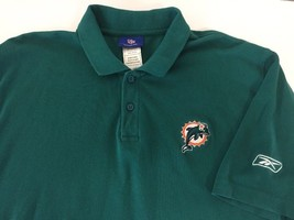 Miami Dolphins Reebok Polo shirt mens Large Retro old school - €16,77 EUR