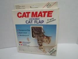Cat Mate Lockable Cat Flap Weatherproof Silent Action Transparent Flap U... - $13.00