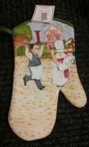 "Printed Kitchen Oven Mitt (12""), Fat Chef, Waiter & Chef, green back - $7.91"