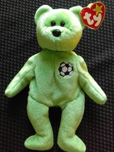 TY Original Beanie Baby Retired Plush Kicks the Soccer Bear - $4.65