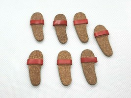 Vintage Barbie Ken 1961 Original Cork Sandals Shoes Left Foot Only LOT - $14.85