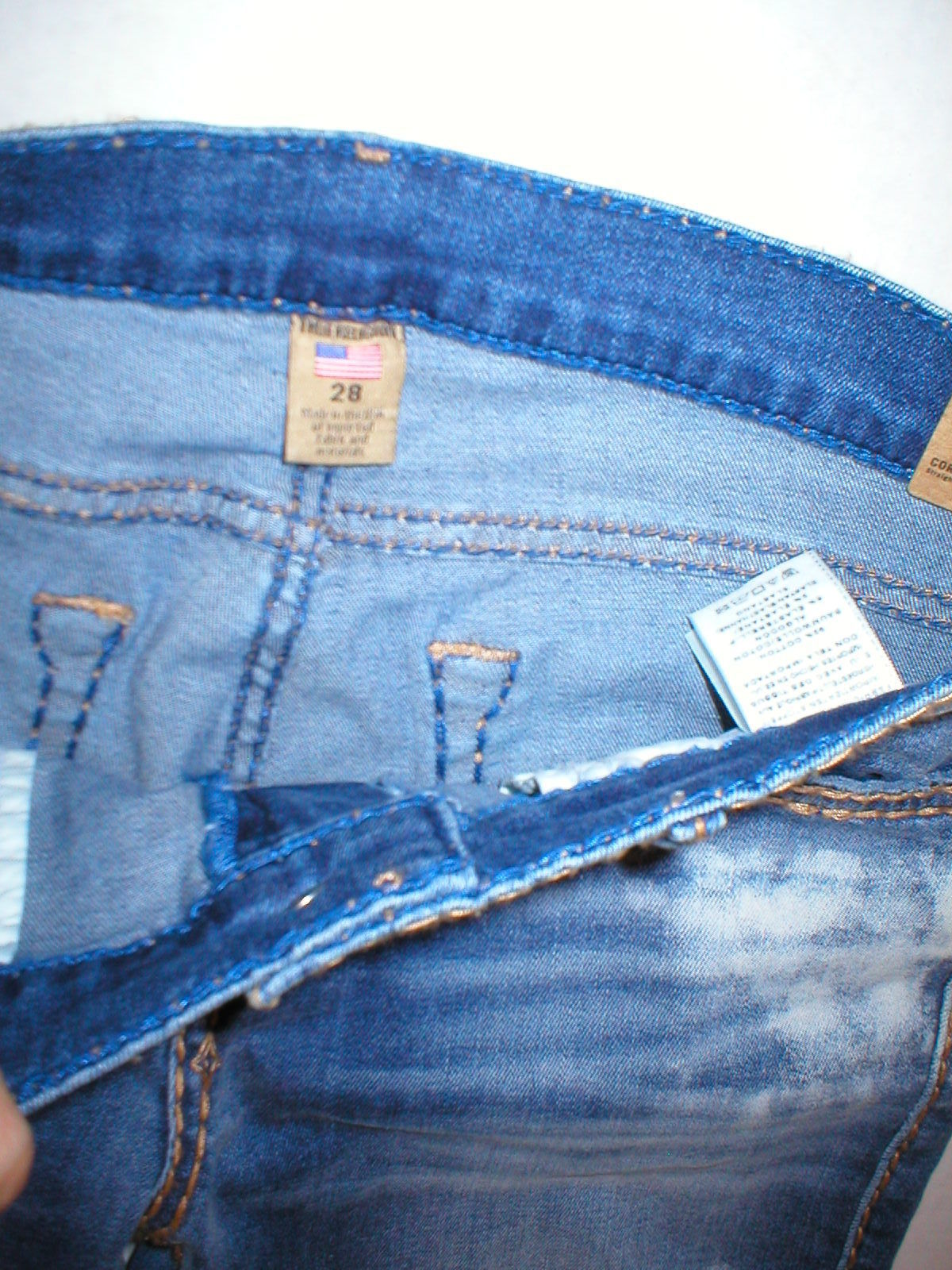 New Womens True Religion Brand Jeans Cora Super T Crock Blue Tide 28 NWT USA image 6
