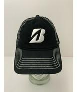 Bridgestone Golf Hat Black White Detail Stitch Kolka Klassic 2012 Strapb... - $17.77