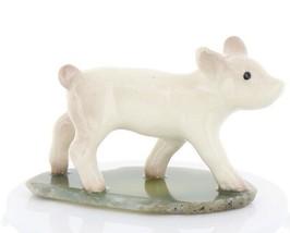 Hagen Renaker Miniature Baby Pig Walking on Base Stepping Stones #2752