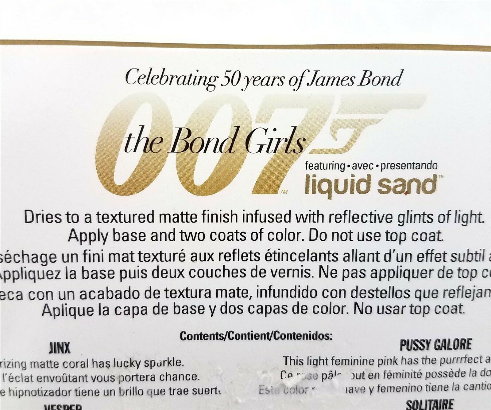 OPI 007 The Bond Girls Liquid Sand Mini Nail Polishes Set Of 4 1/8 fl oz image 4