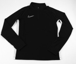 New Nike Team Academy 19 Drill Soccer 1/4 Zip LS Top Youth Unisex M Blac... - $14.35