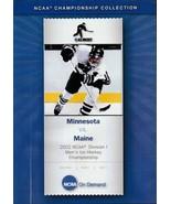 NCAA on Demand Minnesota vs. Maine 2002 NCAA Men's Hockey Championship DVD - $18.95