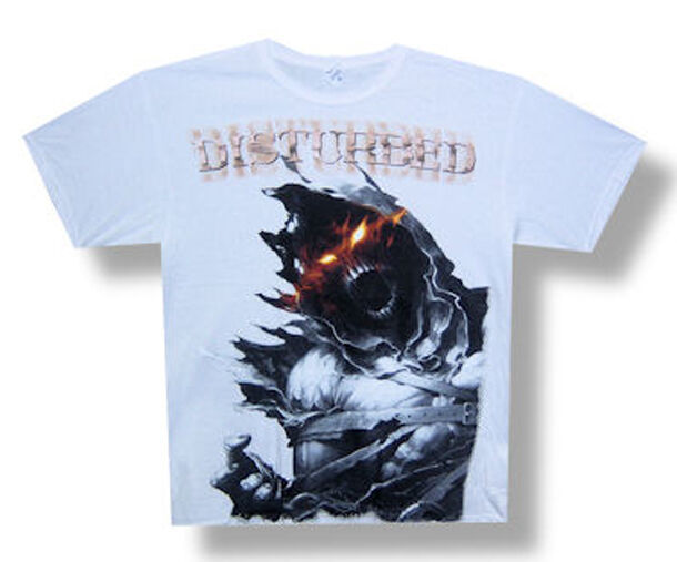 Disturbed-Daylight-All Over Print-XXL White T-shirt