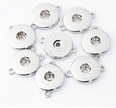 10PCS/lot Two Ears Snap Jewelry Findings Metal Silver 18mm Snap Buttons ... - $9.52