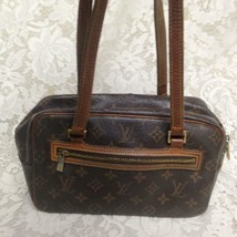 Authentic Louis Vuitton Brown Mono Cite Shoulder Bag 10in x 6.5in x 4in(... - $332.45