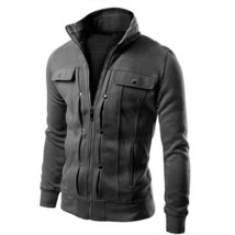 2018 New Fashion 6 Color S-5XL Mens Stand Collar Hoodies Jacket  Warm Pu... - $38.76