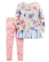 Carters Toddler Girl 2 Piece French Terry Top & Legging Set image 2